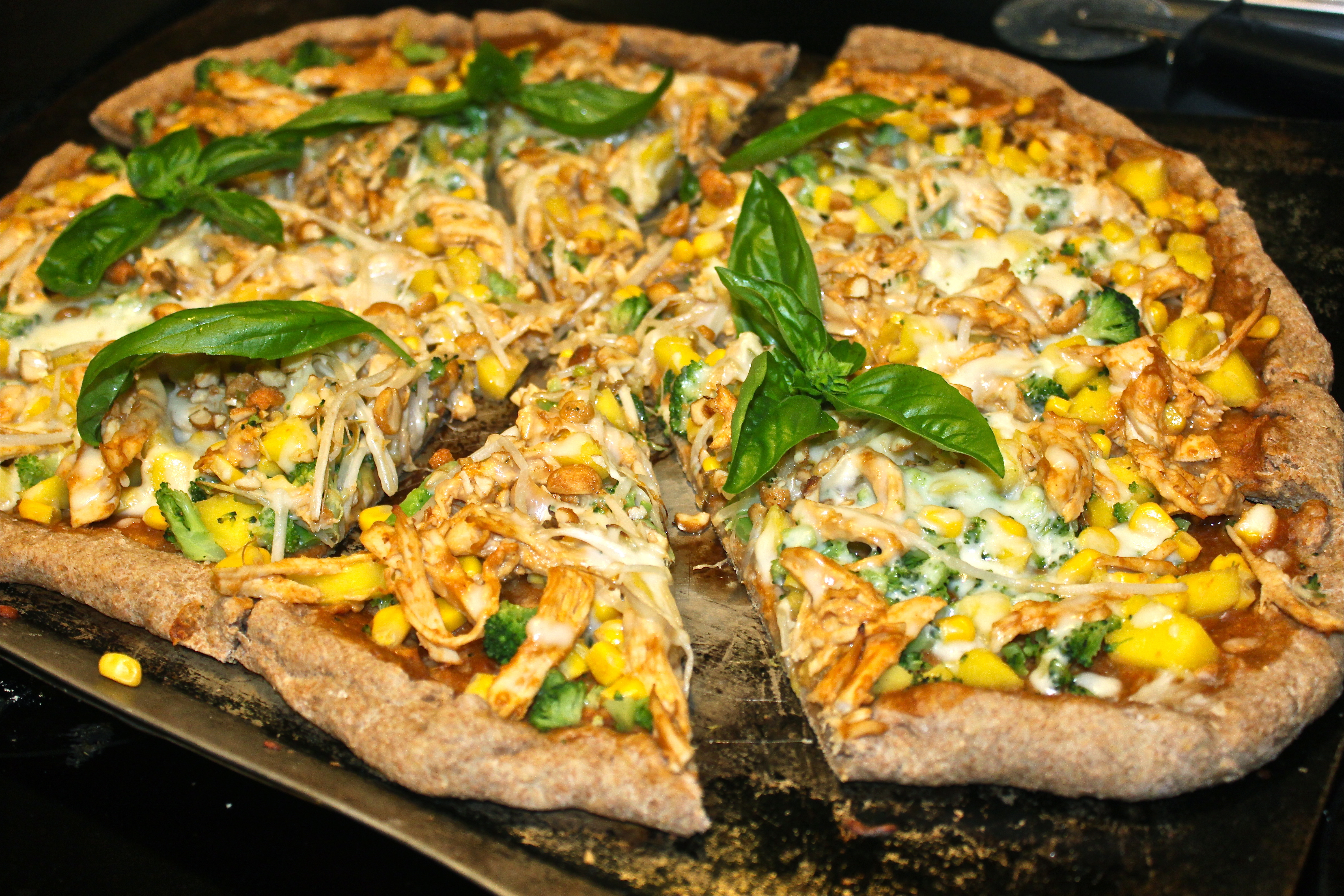... Month Week 3: Thai Chicken Pizza with a Spicy Peanut Ginger Sauce