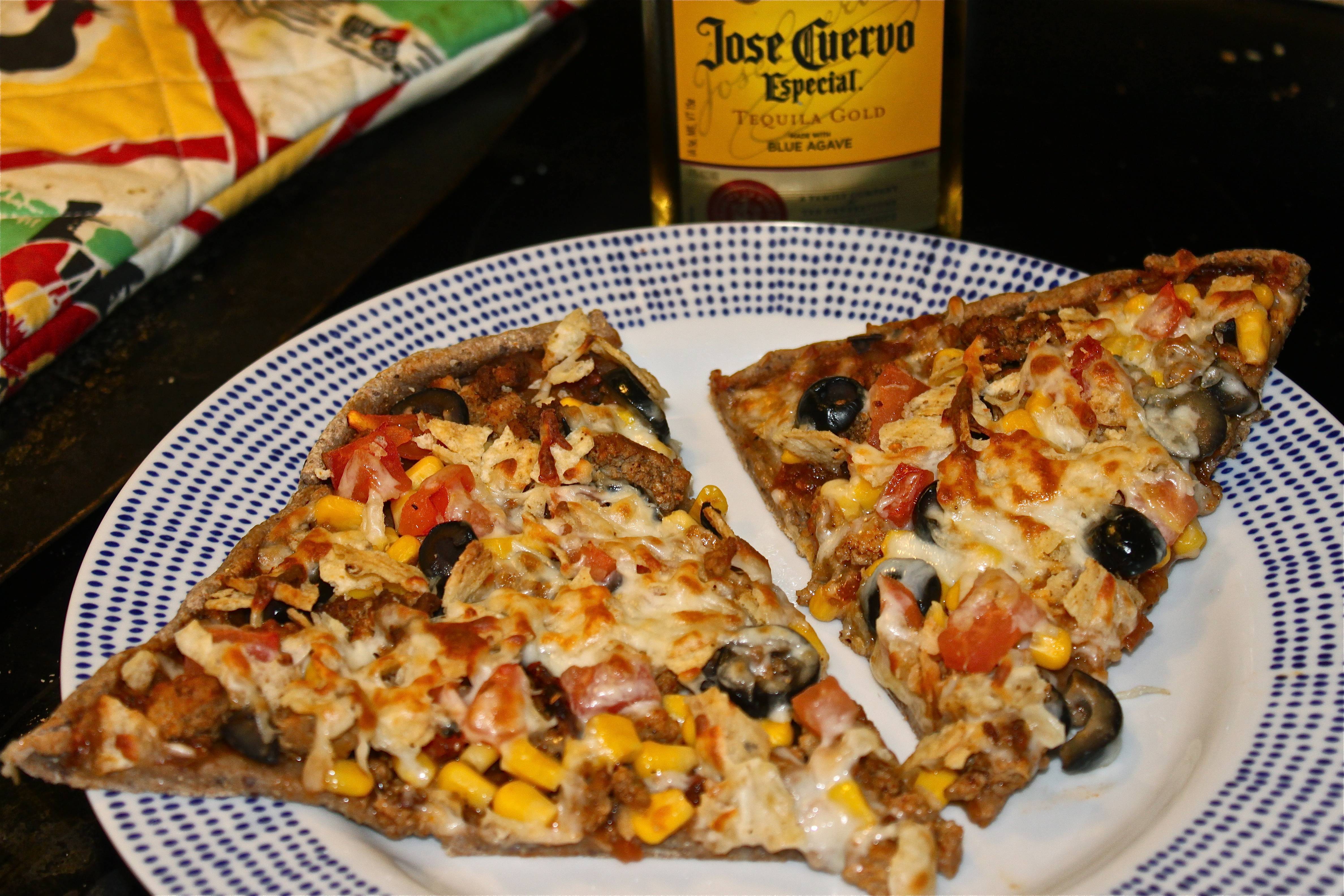 National Pizza Month, Week 4: Mexican Pizza with a Black Bean Tequila ...