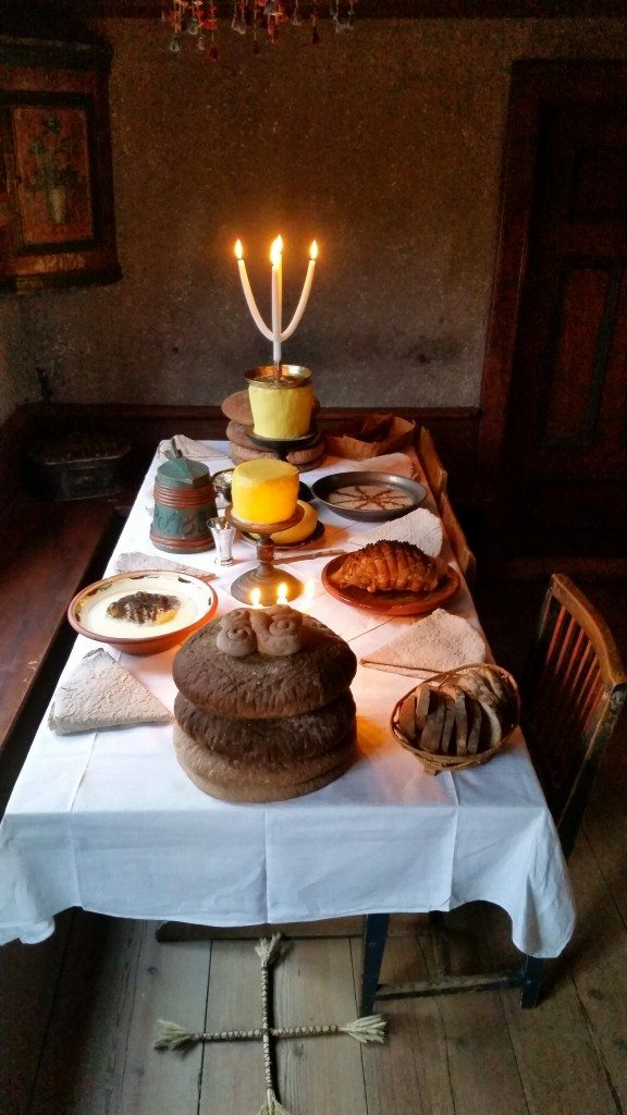 Example of a traditional Swedish Christmas meal at Skansen.