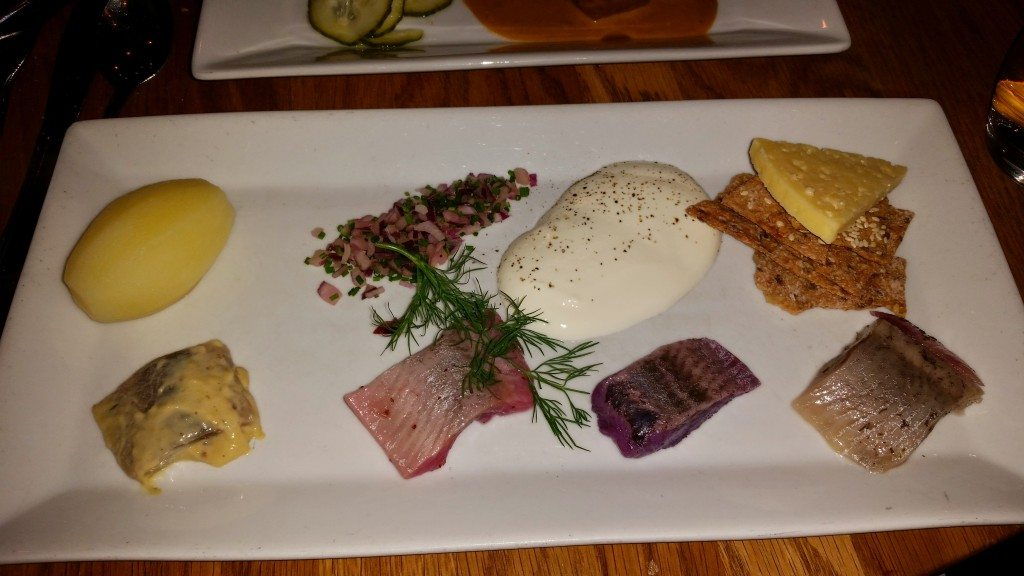 Another pickled herring platter.