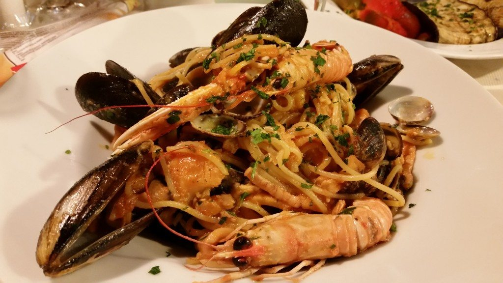 Fantastic spaghetti allo scoglio. The noodles were so fresh and absorbed the seafood flavors. Grateful to Vickie's painting teacher for recommending Taverna San Trovaso!