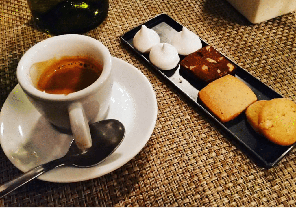Every dinner should end with cappuccino and a sweet treat!