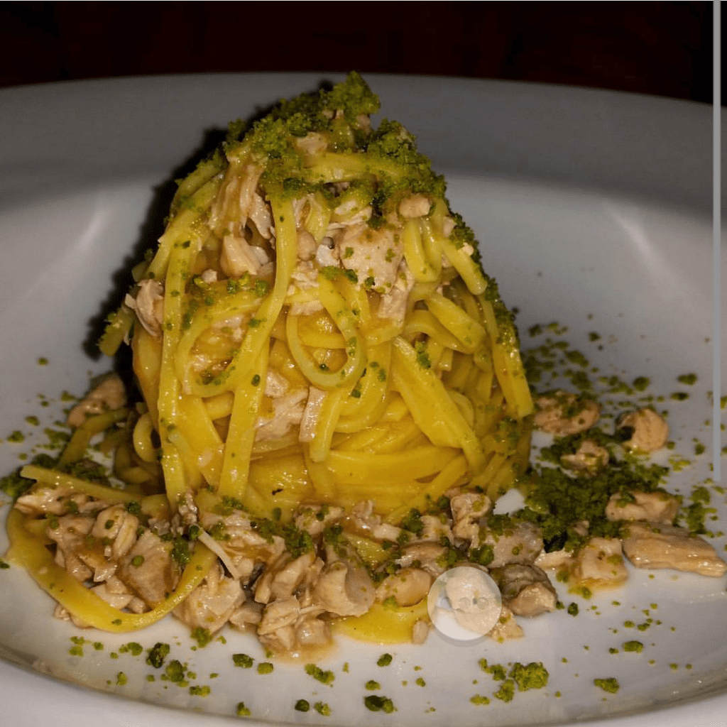 Another awesome homemade pasta with rabbit and pistachio.