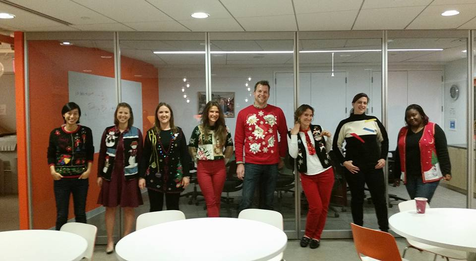 Tacky sweater contest at work. My office really gets into the holiday cheer!