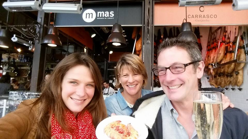 Eating my way through Mercado de San Miguel in Madrid with my Dad and Kippy.