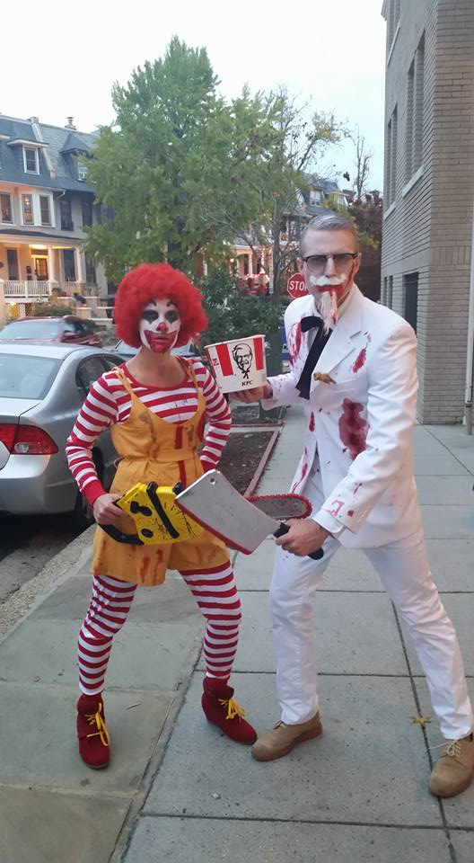 """Fast Food Killing America"" - possibly our best Halloween costume EVER."